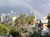 Sydney skyline rainbow