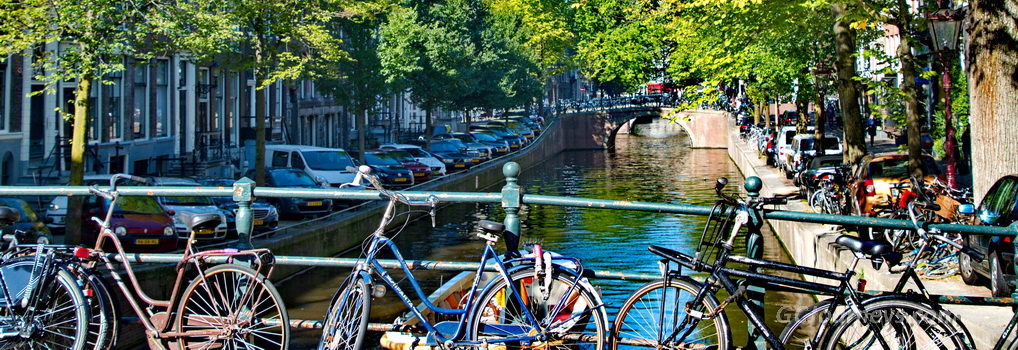 Amsterdam bikes & canal