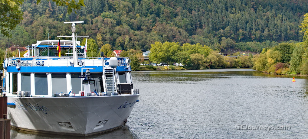 Our ship on the Main River at Wertheim, Germany