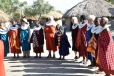 Maasai women teaching ours to dance