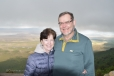 Graeme & Connie on the rim of the Ngorongoro Crater